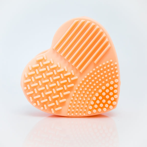 Orange Heart Make Up Brush Cleaner