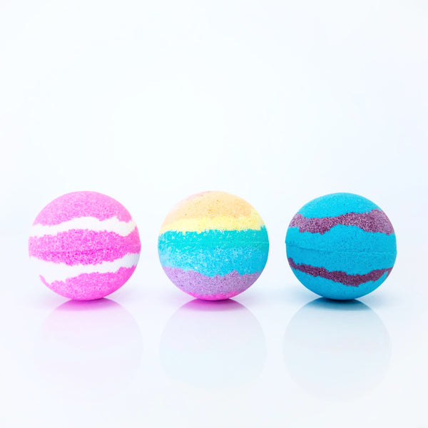 Colourful Bath Bombs for Kids