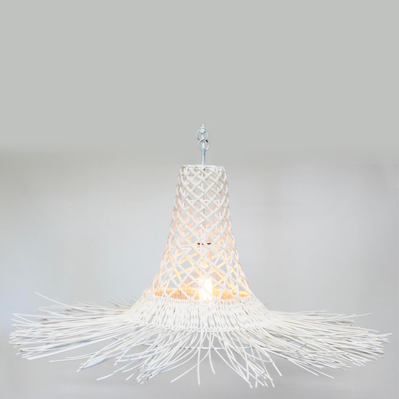 SANIYA PENDANT SHADE - WHITE WASH 100 X 149CM