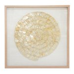 ZABRINA FRAMED SHELL ART - MOTHER OF PEARL 90 x 90CM