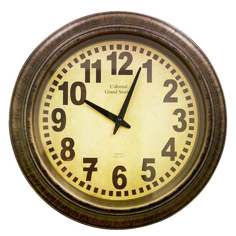 CLOCK BROWN PLASTIC FRAME 40CMD