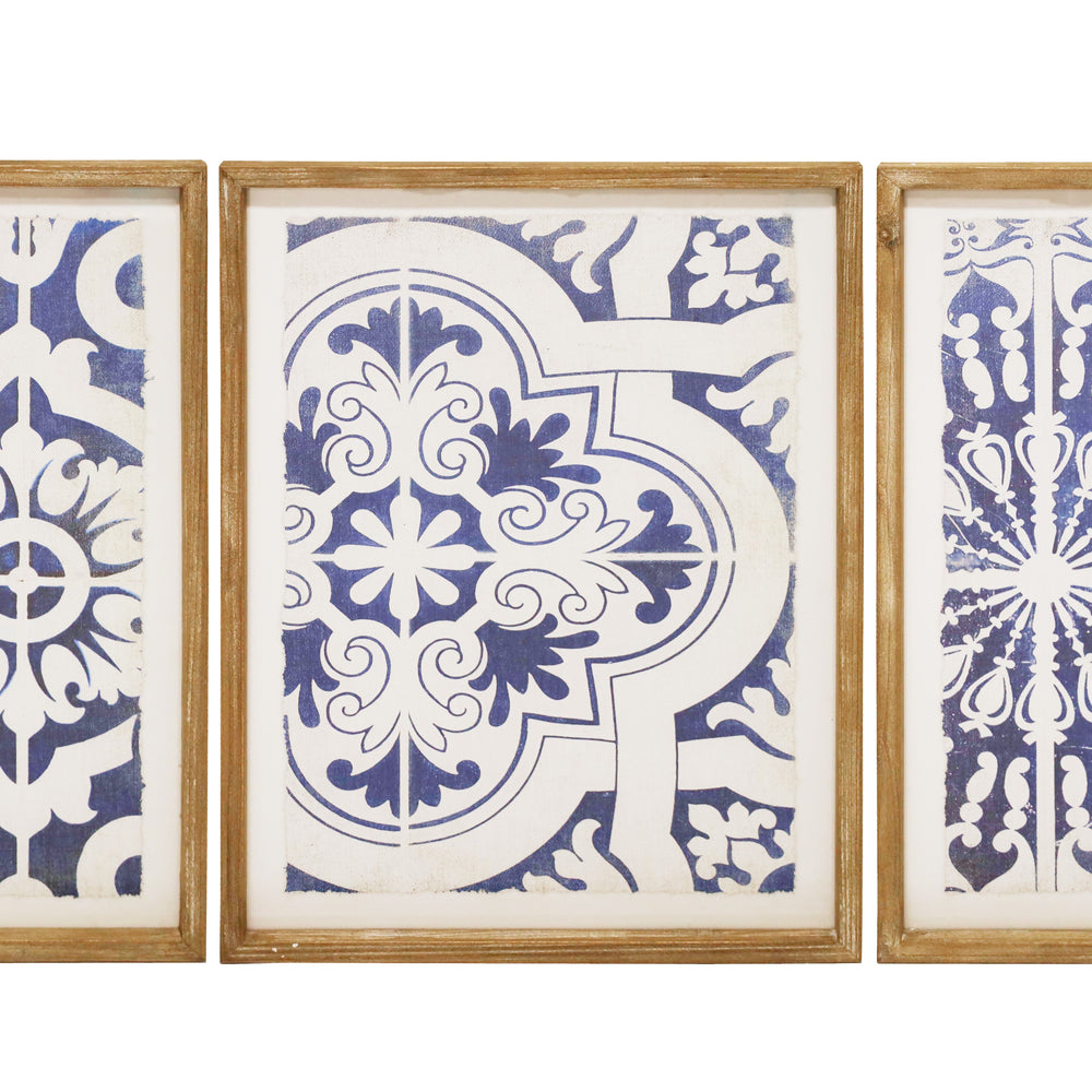 MOROCCAN 3 TILE FRAMED PRINTS