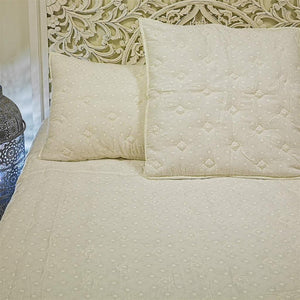DARMA QUEEN SIZE QUILT SET - OFF-WHITE 230X220CM