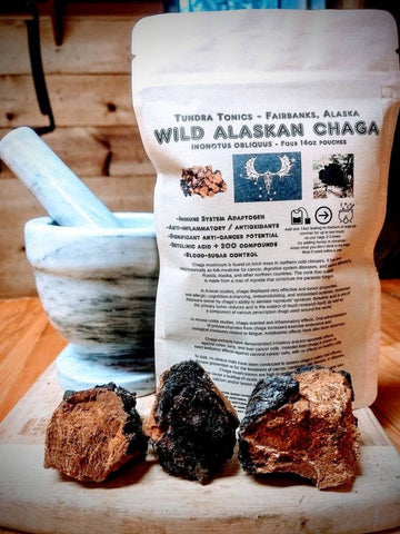 56 Grams Ground Alaskan Chaga Powder, 4 x 14 Gram Pouches