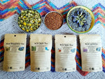 Tea Gift Set - Herbal Organic Tea -  Tea Lovers Gift - Blue Butterfly Tea Blends - Calming Tea Box