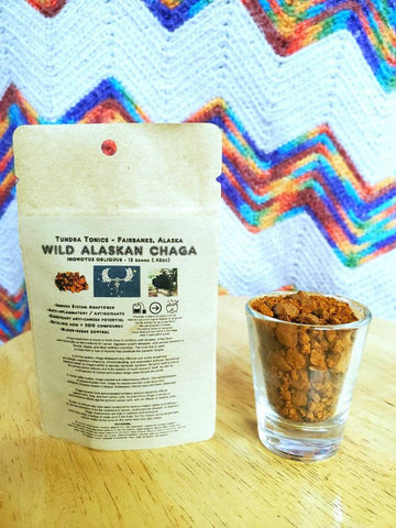 Alaskan Chaga Mushroom Grounds, 12 Gram Tea Sample