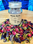 Bath Tea, Herbal Bath Salt Blend, Blue Butterfly Tea, Pink Rose Petals, Whole Goat Milk & Epsom Salt