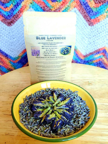 Dried Lavender, Blue Butterfly Tea, Herbal Tea Blend