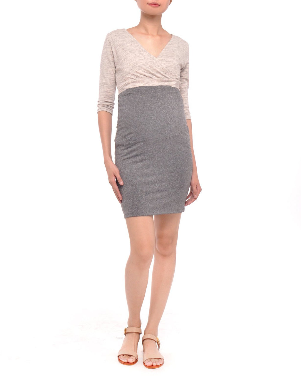 Maternity Skirt Charcoal Gray