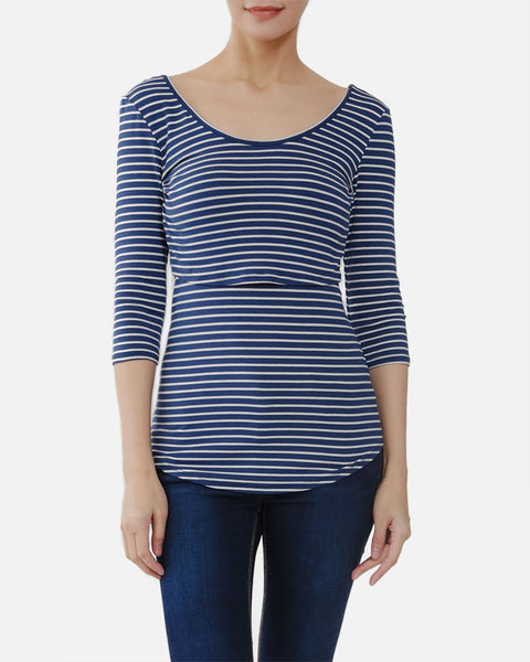 Basic 3/4 Nursing Top