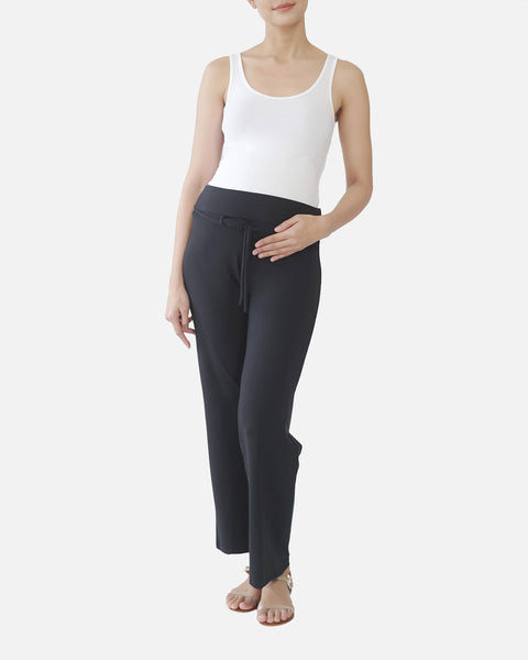 Elin Lounge Pants in black, front view