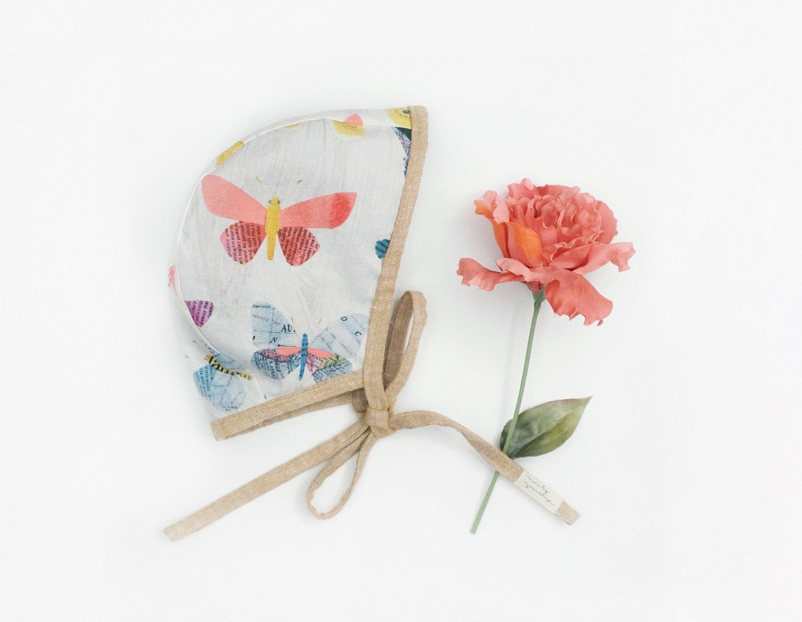 Reversible Watercolor Butterfly Bonnet