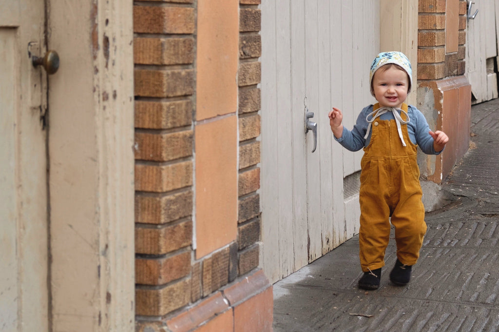 Corduroy Zip-Up Overall