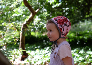 Reversible Rose Garden Bonnet