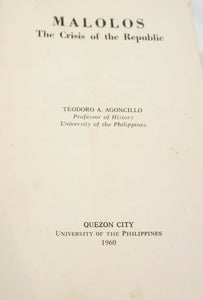 Malolos -Crisis of the Republic