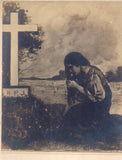 RPPC of a Jorge Pineda Painting of Jose Rizal's Sister at His Grave
