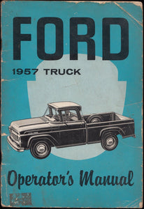 Ford 1957 Truck Owner's Manual