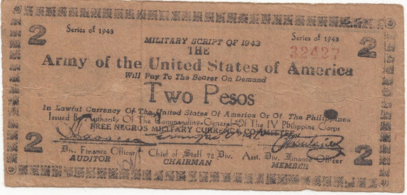 Army of USA two pesos 5711