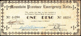 Mountain Province 1 Peso World War 2 note