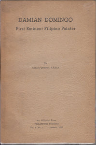 Damian Domingo First Eminent Filipino Painter by Carlos Quirino