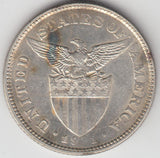 US-Philippines 50 centavos 1921 Almost  Uncirculated