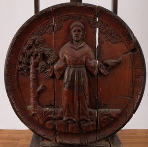 "St Francis ""Relleve"" Wood Block Sculpture"