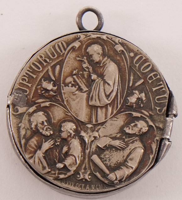 1910 Our Lady of Guadalupe Silver Medal made into Amulet
