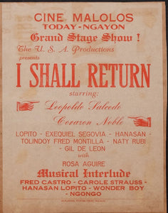 """I Shall Return"" Cine Malolos Flyer"