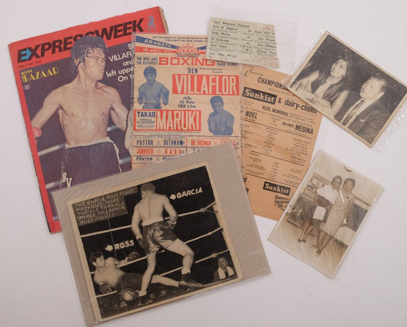 Lot of 7 pcs items relating to Boxing History in the Philippines