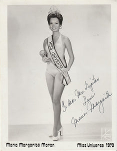 1973 Miss Universe MARGIE MORAN Signed Swimsuit Photo