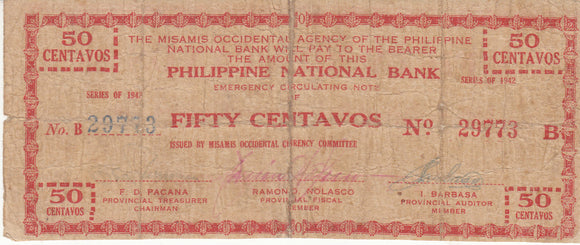 Misamis Occidental 50 Centavos 1942