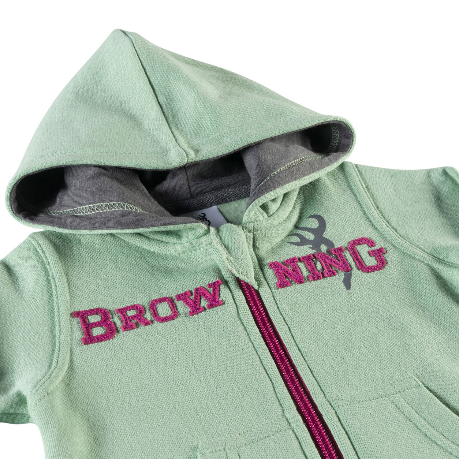 Browning Baby Otter Hoodie Festival Fuchsia 12 MO