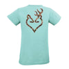 Women's Camo Buckheart T-Shirt | Women's Cut