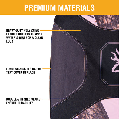 Mossy Oak Break-Up Pink Low Back Seat Cover