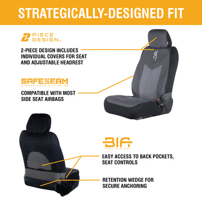 Low Back Seat Cover | Heather Black