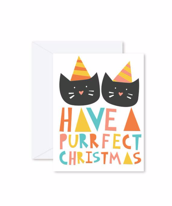 GREETING CARD | Have A Purrect Christmas