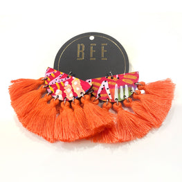 EARRINGS | BEE Deluxe Drops - Bret Orange One
