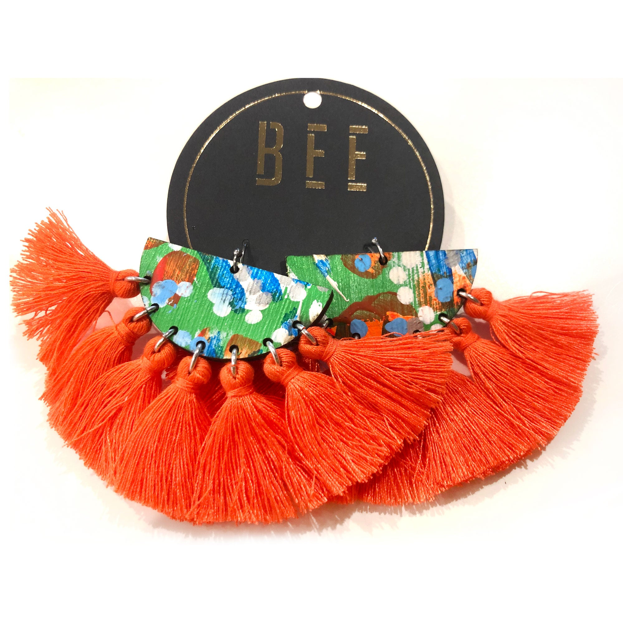 EARRINGS | BEE Deluxe Drops - Bret Orange Two