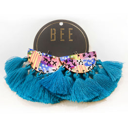 EARRINGS | BEE Deluxe Drops - Bret Blue One