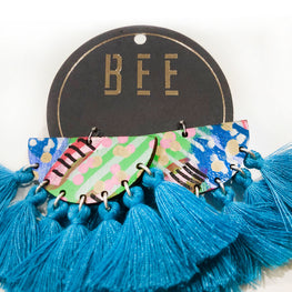 EARRINGS | BEE Deluxe Drops - Bret Blue Two
