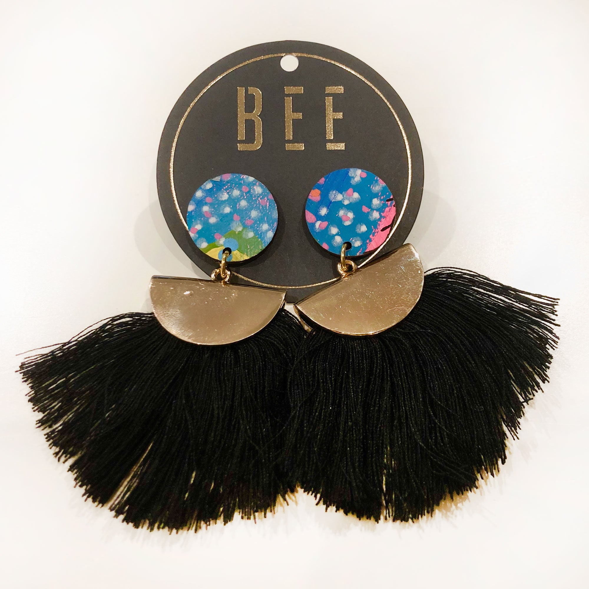 EARRINGS | BEE Emmy Drop Earrings - Blue Dots