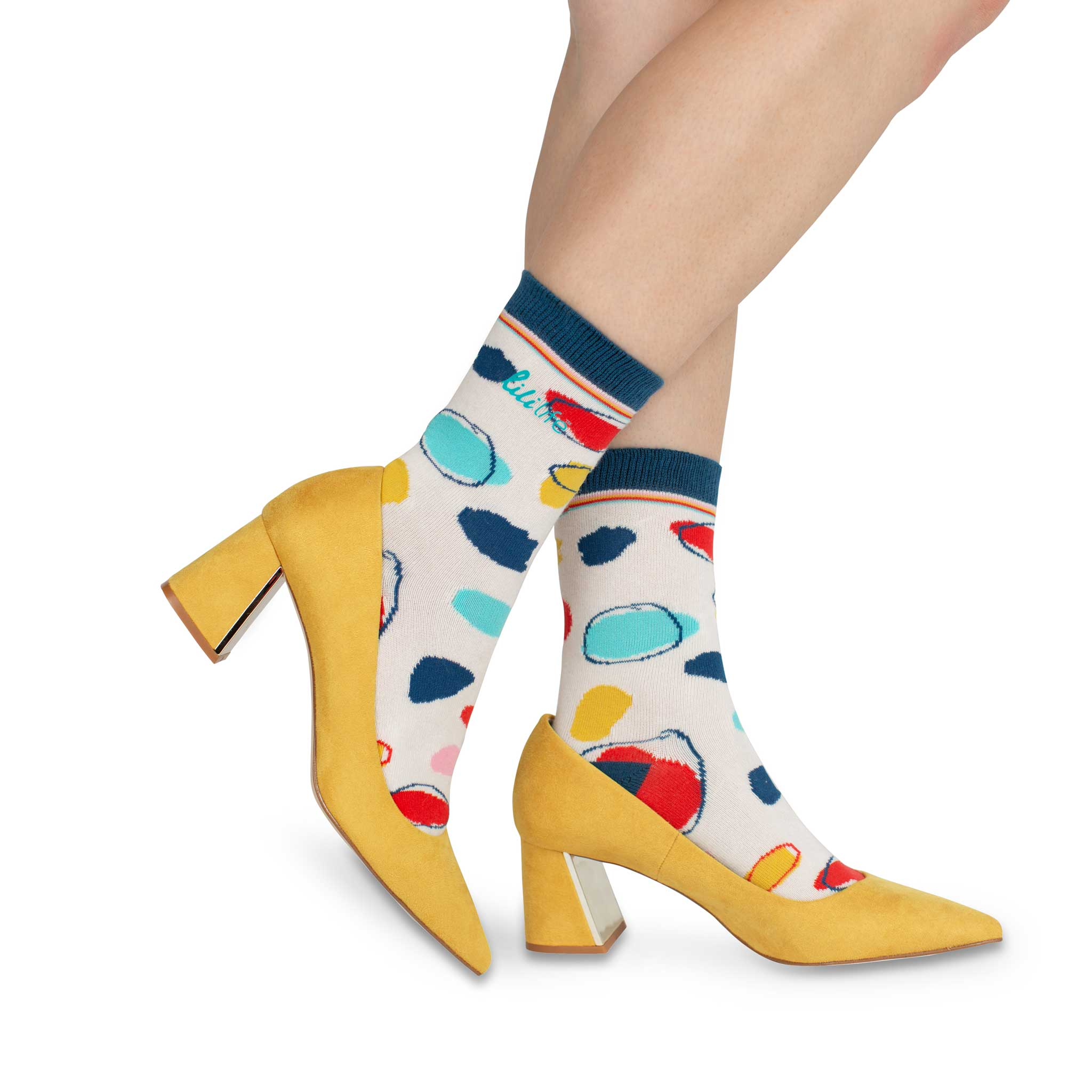 Adult Crew Socks | Coloured Dots