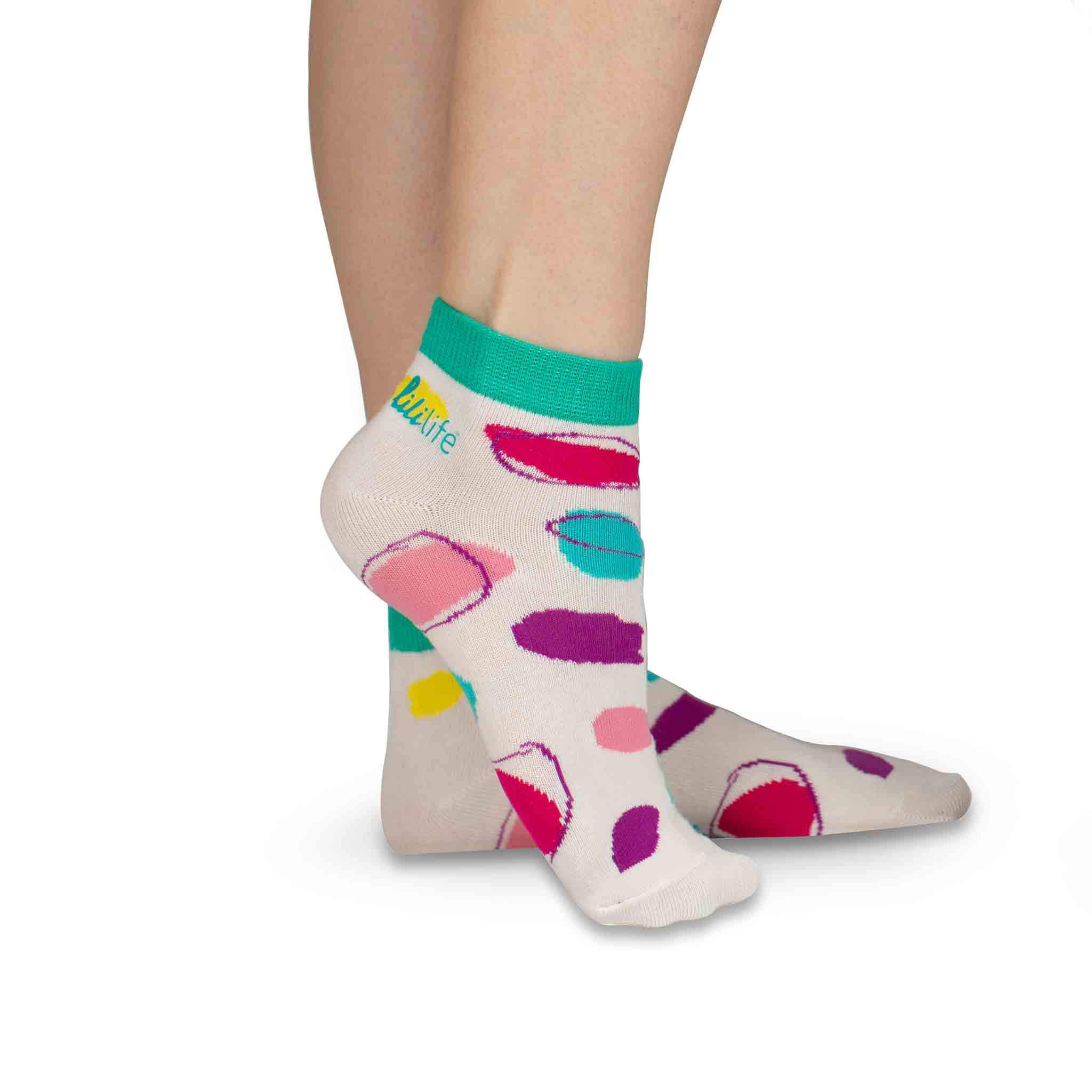 Adult Ankle Socks | Coloured Dots