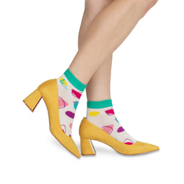 H 'n' H - Coloured Dots Ankle Socks