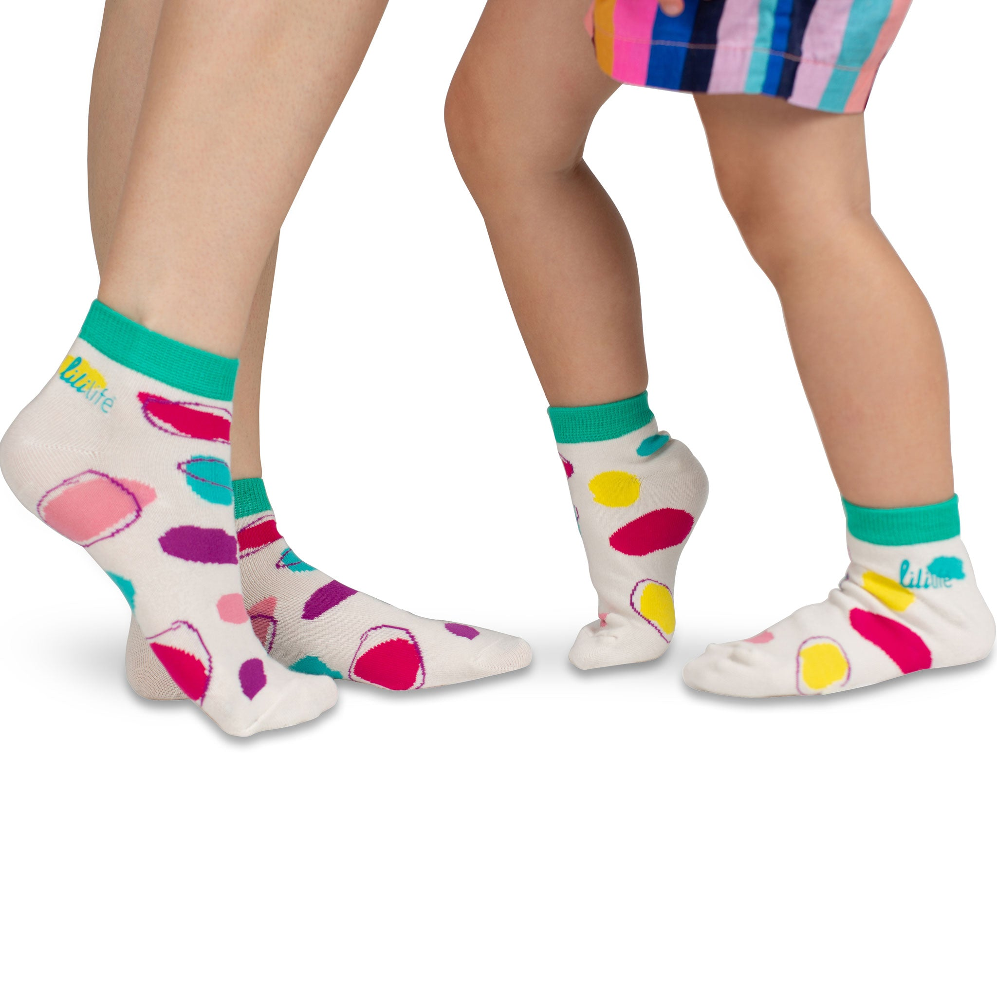 Kids Ankle Socks | Coloured Dots