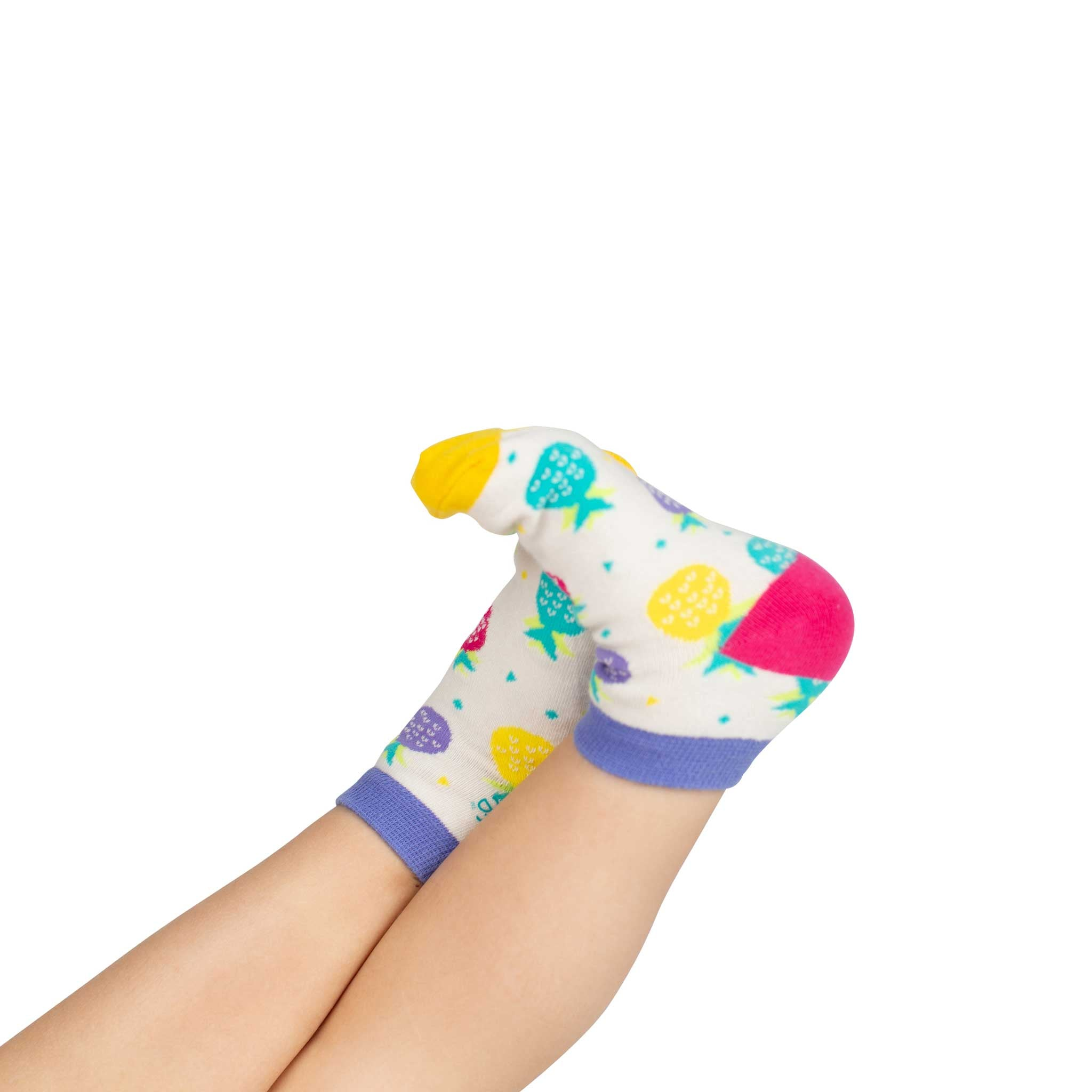 Kids Ankle Socks | Coloured Pineapples