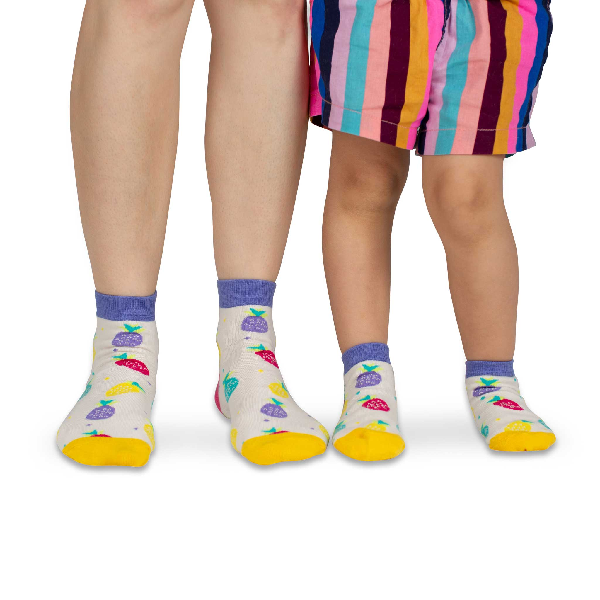 Mama & Me Socks | Coloured Pineapples