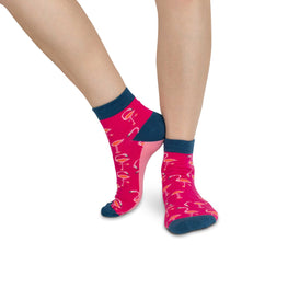 Adult Ankle Socks | Flamingo - Bright Pink
