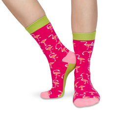 H 'n' H - Bright Flamingo Socks