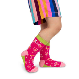 Kids Crew Socks | Flamingo - Bright Pink
